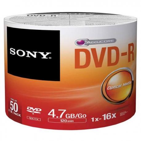 دی وی دی خام سونی Sony پک 50 عددی